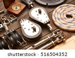 sailing yacht rigging equipment ... | Shutterstock . vector #516504352