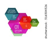 infographic banner layouts with ... | Shutterstock .eps vector #516504526