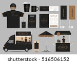 concept for coffee shop and... | Shutterstock .eps vector #516506152