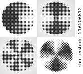 radial gradient halftone... | Shutterstock .eps vector #516506812
