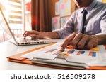 double exposure of businessman... | Shutterstock . vector #516509278