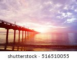 Sunrise At The Sea With Fishin...