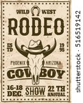 rodeo show advertisement poster ... | Shutterstock .eps vector #516519142