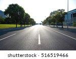 empty road surface floor with... | Shutterstock . vector #516519466