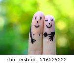 Finger Art Of Happy Couple In...