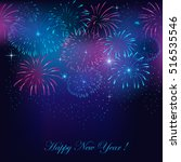 new year's fireworks... | Shutterstock .eps vector #516535546