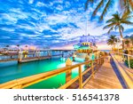 sunset over key west  florida.... | Shutterstock . vector #516541378