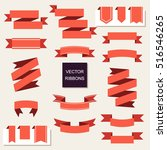 ribbon vector icon set. banner... | Shutterstock .eps vector #516546265