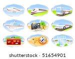 travel icon set   Shutterstock .eps vector #51654901