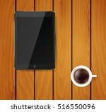 realistic tablet pc computer... | Shutterstock .eps vector #516550096