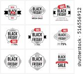 black friday sale label set | Shutterstock .eps vector #516556912