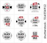 black friday sale label set   Shutterstock .eps vector #516556912