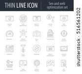 icons set of seo and web... | Shutterstock .eps vector #516561202