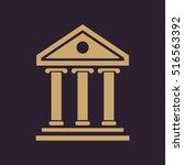 the bank icon. building facade... | Shutterstock . vector #516563392
