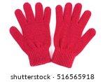 pair of woolen gloves for woman ... | Shutterstock . vector #516565918
