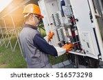 solar cell engineering working...   Shutterstock . vector #516573298