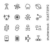 connection vector icon set | Shutterstock .eps vector #516573592