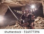 attack of powerful knight in...   Shutterstock . vector #516577396
