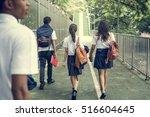 diversity students friends... | Shutterstock . vector #516604645