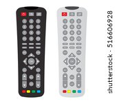 black and gray remote control... | Shutterstock .eps vector #516606928