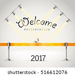 photorealistic bright stage... | Shutterstock .eps vector #516612076