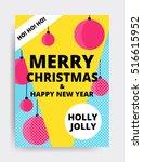 merry christmas new year design ... | Shutterstock .eps vector #516615952