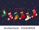 christmas socks. | Shutterstock .eps vector #516628426