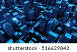 digital 3d rendering city.... | Shutterstock . vector #516629842