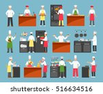 professional cooking decorative ... | Shutterstock .eps vector #516634516