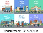 icons with school types.... | Shutterstock .eps vector #516640345