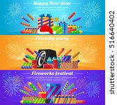 happy new year. friendly party. ... | Shutterstock .eps vector #516640402