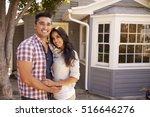 portrait of couple standing... | Shutterstock . vector #516646276