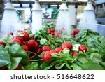 radishes being washed on... | Shutterstock . vector #516648622