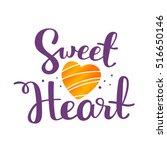 vector lettering handwritten... | Shutterstock .eps vector #516650146
