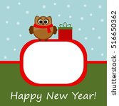 vector greeting card with... | Shutterstock .eps vector #516650362
