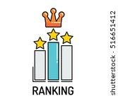 ranking line icon | Shutterstock .eps vector #516651412