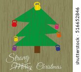vector strong christmas card.... | Shutterstock .eps vector #516652846