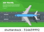 aviation travel vector... | Shutterstock .eps vector #516659992