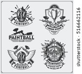 set of paintball club labels ... | Shutterstock .eps vector #516662116