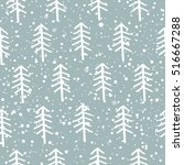 beautiful winter background.... | Shutterstock .eps vector #516667288