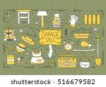 garage sale  household used... | Shutterstock .eps vector #516679582