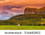 norway mountain nature... | Shutterstock . vector #516682852