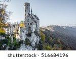 lichtenstein castle in germany  ... | Shutterstock . vector #516684196
