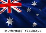 australia 3d flag  australian... | Shutterstock . vector #516686578