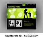family website template  vector | Shutterstock .eps vector #51668689