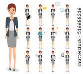 business woman character with... | Shutterstock .eps vector #516688216