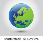 vector earth globe icon world... | Shutterstock .eps vector #516691996