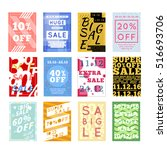 large set of bright colorful... | Shutterstock .eps vector #516693706