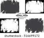 set of grunge frame   abstract... | Shutterstock .eps vector #516699172