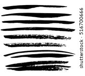black ink vector brush strokes. ... | Shutterstock .eps vector #516700666